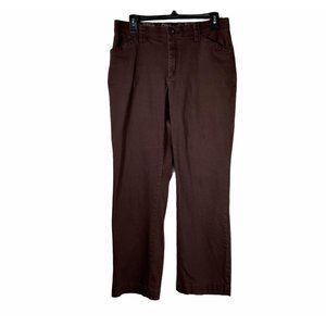Lee Comfort Waist Band Stretch Brown Pants 10S